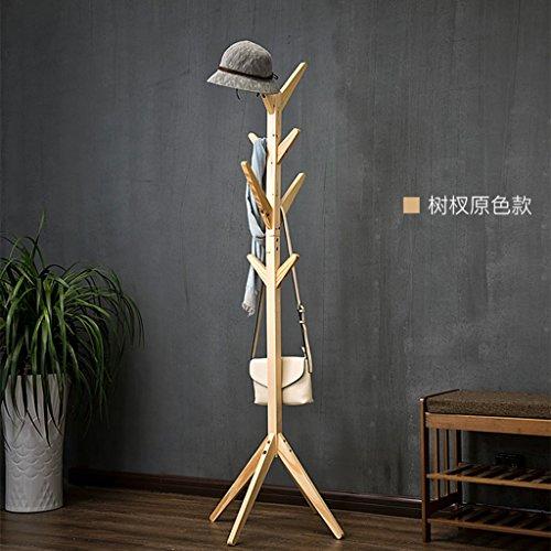 Porte-manteau Porte-manteau en bois Porte-manteau moderne créatif moderne Salon Salon Chambre Bureau (Couleur : Wood Color-A)