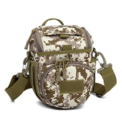 FFZH Borsa / reflex borsa fotografica / sacchetto della macchina fotografica camuffamento / borsa a tracolla del messaggero / Tactical Assault Piccolo una cinghia Sling Zaino / Sport Packbag , three c desert