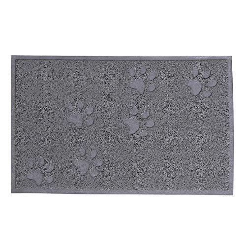 dibea CM00341, Vorleger für Katzentoilette, PVC, Katzenstreu-Matte fängt Streu einfach auf, leicht zu reinigen, Katzenklomatte, Katzenmatte, M
