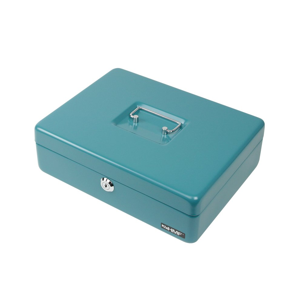 b03692cf20 HMF 10015-24 Cassetta Portavalori con Vassoio Porta Monete e Banconote 30 x  24 x 9 cm, petrol - 10015-24 < Piccole casseforti per contanti e assegni ...