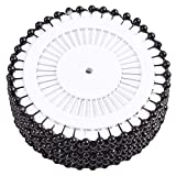 Unicoco 480 x Rotondi con Perle perni Testa per Sartoria mestiere di Cucito Decorazione Wedding - Nero (Black)