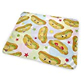swerrtty Cute Hot Dog Diaper Change Pad Portable and Foldable Changing Mat 25.5 x 31.5 inch