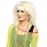 Bunte Neon Ohrringe 70er Jahre Ohrschmuck Hippie Modeschmuck Disco Damenohrringe Party Mode schmuck Faschingskostüm Accessoires