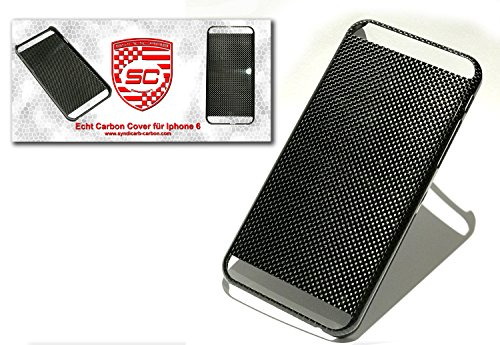 Syndicarb - cover per iphone 6 6s, 100% vero carbonio, ultra sottile, in fibra di carbonio, colore: nero
