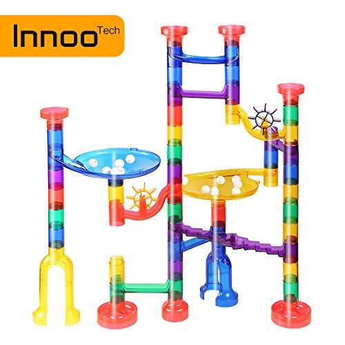 Innoo Tech Circuits de Billes, Jouets Enfants 3 Ans Toboggan à Billes 80pcs   Labyrinthe Billes Marble Run Jeux de Construction Cadeaux Enfants Anniversaire