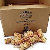 Encendedores de madera natural ecológica – 200 encendedores de llama de lana de madera por caja. Ideal para iluminación de in