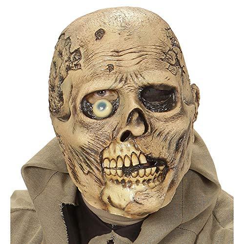Widmann 00507 Maske einäugiger Zombie, Braun, Taglia Unica (Fleisch Fancy Dress Kostüm)
