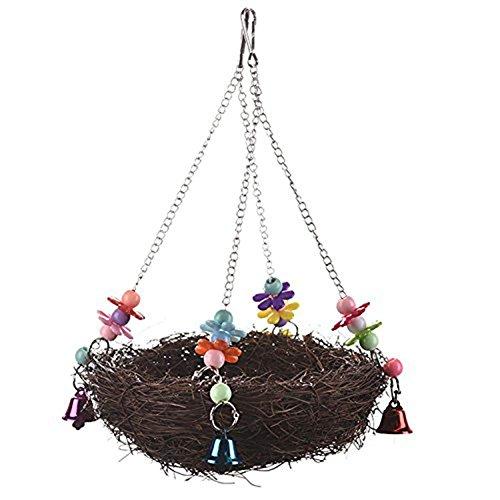 Rabi Jaula de pájaros para Loro, cacatúa, Pajarita, cacatúa, Cono de cacatúa, Cachemira, cacatúa, Perrito Natural, Juguete para Mascota, pájaro Natural, Fibra de Coco Natural para Nido de pájaros
