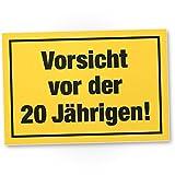 DankeDir! Vorsicht vor der 20 Jährigen, Kunststoff Schild - Geschenk 20. Geburtstag Frauen, Geschenkidee Geburtstagsgeschenk Zwanigsten, Geburtstagsdeko/Partydeko / Party Zubehör/Geburtstagskarte