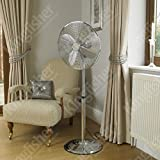 Best King Electric Tower Fans - Kingfisher Limitless Chrome Pedestal Fan, 16 Inch Review