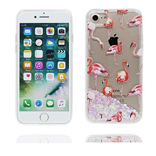 iPhone 7 Coque, Case Cover étui pour iPhone 7 4.7 pouces, Bling Glitter Fluide Liquide Sparkles Sables Mouvants Étoile Paillettes Flowing Brillante, iPhone 7 Case anti-chocs - Colorful ( Bling Bling) # 4