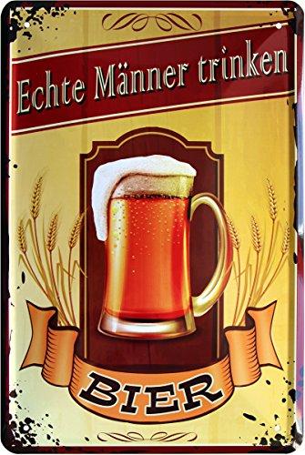 Echte Männer trinken Bier 20x30 cm Blechschild 700 (Männer Trinken Echte)