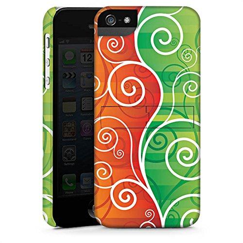 Apple iPhone X Silikon Hülle Case Schutzhülle Floral Schnörkel Ranken Premium Case StandUp
