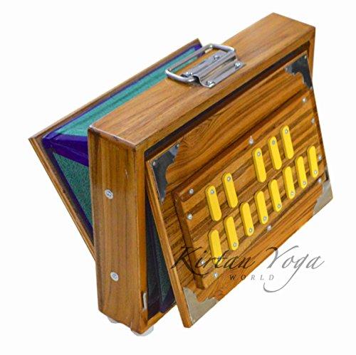 Shruti Box Raga No.1, professionelles Modell, Teakholz von DO bis DO (DO3 bis DO4), 30 x 22 x 8.5 cm, Gewicht 2.5 kg, Stimmung 440Hz (432Hz auf Anfrage)