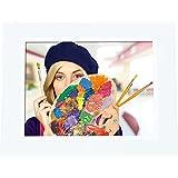 """Rollei Degas DPF-850 - Digitaler Multi-Media Bilderrahmen mit 8.0"""" (20,3 cm) TFT-LED Panel, Bild-, Video-, Musik-, Kalender- und Uhrfunktion, Diashow, inkl. Fernbedienung - Weiß"""