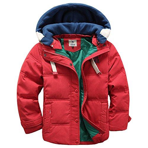 LSERVER-Winterjacke für Kinder Jungen Mädchen Verdickte Daunenjacken Mantel Trenchcoat Outerwear mit Kapuzen 3