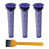 Blue Power Replacement Pre Filter for Dyson V6 V7 V8, Washable Replenishment Filter for Dyson DC58 DC59 DC61 DC62 Animal Vacuum Cleaner Parts & Accessories Replaces - Part # 965661-01 (Pack of 3)