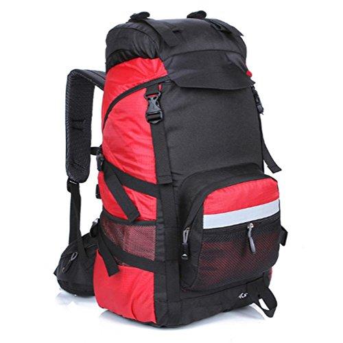 Outdoor zaino alpinismo, escursionismo borse, zaini da campeggio grande capacità, sia uomini che donne, 45 l, nylon, impermeabile e traspirante , c h
