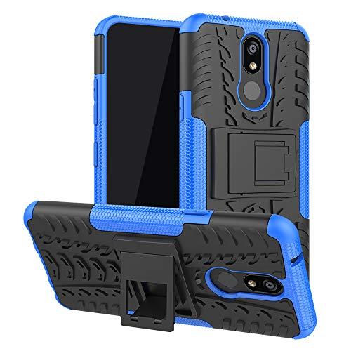 LFDZ LG K40 Hülle, Abdeckung Cover schutzhülle Tough Strong Rugged Shock Proof Heavy Duty Case Für LG K40 / K12 Plus,Blau