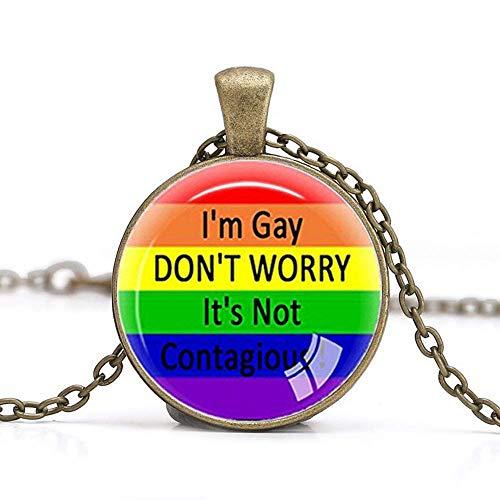 Gay Pride Halskette, Gleicher Sex LGBT-Schmuck, Gay Lesbian Pride with Rainbow Love gewinnt Geschenk, Gleiche Sex Ehe (Halskette Pride Gay)