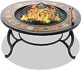 Centurion Supports Fireology LANIAKA Garten-und Patio-Heizung Feuerstelle, Couchtisch, Barbecue-und Eis-Eimer mit Schiefer Fliesen