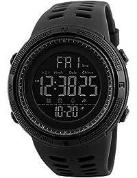 5e9cddddfc70 Reloj Digital para Hombre Deportivo Militar Resistente al Agua Reloj de  Pulsera Casual Electrónico con Alarma