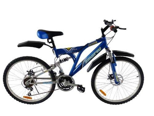 2Fast4You Kinder Kinderfahrrad, Blau, Rahmenhöhe: 36 cm, Reifengröße: 24 Zoll (61 cm), PC-2418