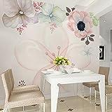 Yosot 3D-Geprägte Blume Foto Tapete Wandbilder Tapeten Für Wohnzimmer Wohnzimmer Wand Dekor Schlafzimmer Wandbild Floral-250Cmx175 Cm