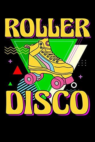 Roller Disco: 120 Seiten (6x9 Zoll) Notizbuch Kariert für 90er Party Freunde I Rollschuhe Kariertes Notizheft I Roller Skates Notizblock I 80er Party Notizplaner