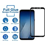 Tempered Glass for Samsung Galaxy J6,Premium Oil Resistant Coated Tempered Glass Screen Protector Film Guard for Samsung Galaxy J6-Black
