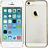 kwmobile Crystal Case Hülle für Apple iPhone SE / 5 / 5S mit Teufel Design - transparente Schutzhülle Cover klar in Gold Transparent