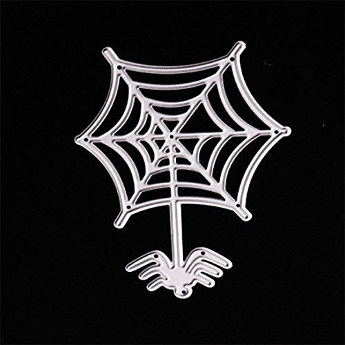 (Halloween Stanzschablonen, FNKDOR Scrapbooking Stanzmaschine Prägeschablonen Metall Schablonen Stanzformen, für Sizzix Big Shot/Cuttlebug/und Andere Prägemaschine (C))