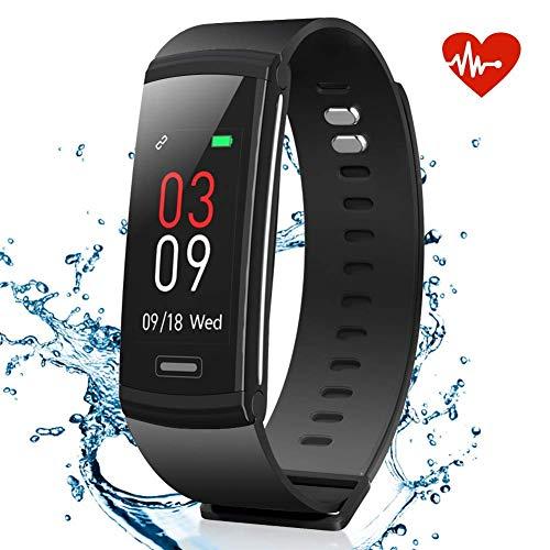 Imagen de akaso pulsera de actividad inteligente deportiva impermeable hombre mujer fitness pulsera actividad física con monitor de ritmo cardíaco sueño caloría podómetro pantalla a color ios android compatible