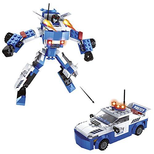 Ausini - Juego de construcción Robot 2 en 1 Enforcer - 180 piezas (ColorBaby 42227)