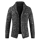 Btruely Strickjacke Herren Slim Fit Jacke Herbst Retro Wintermantel Männer Outwear Winter Übergangsjacke Casual Parka