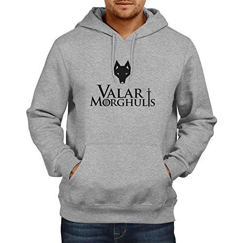 TEXLAB - GoT: Valar Morghulis - Herren Kapuzenpullover Grau Meliert