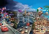 Fototapete Disney, CARS World, 368x254cm, 8-teilig, Kindertapete mit den beliebten Autos.