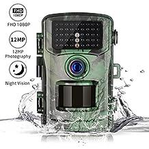 Wildkamera 1080P 12MP TOGUARD Tier-Kamera Wasserdichte Wildlife Kamera H40 mit Infrarot-Lampe, Spiel-Kamera 2,4 Zoll Bildschirm Und 120° Weitwinkel - Infrarot Nachtsichtfunktion, Bewegungssensor, PIR