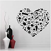 azutura Corazón de la música Vinilos Amor corazon Pegatina Decorativos Pared Dormitorio de las niñas Decoración