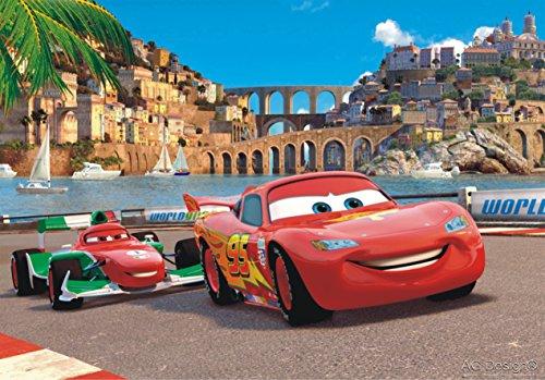 AG Design FTDm 0281 Disney Cars, Papier Fototapete Kinderzimmer- 160x115 cm - 1 Teil, Papier, multicolor, 0,1 x 160 x 115 cm
