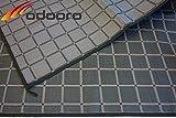 Zeltteppich ´´´odooro WAVETEX SQUARE 2,7m x 5m schwarz-grau *** 400 g/m² Outdoor Teppich Vorzelt Teppich Garten Spieldecke