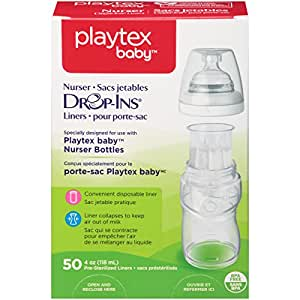 Playtex Drop-Ins Disposable Bottle Liners 4 Ounce