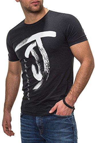 JACK & JONES Herren T-Shirt Kurzarmshirt Top Print Shirt Casual Basic O-Neck (S, Tap Shoe/Chinese White)