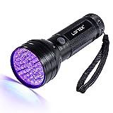 LOFTEK 51 LED Lampe Torche UV de Poche Flashlight Blacklight Lumière Ultra Violet 395nm Détecteur Anti Punaise de Lit 3 Piles AA Garantie de 6 Mois