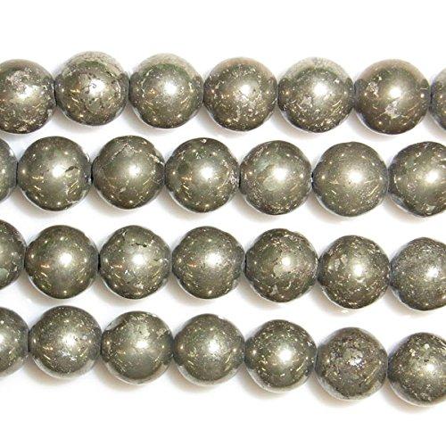 thetastejewelry 4mm redonda perlas de Pirita 15pulgadas 38cm joyas haciendo collar curación