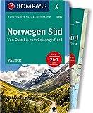 Norwegen Süd, Von Oslo bis zum Geirangerfjord: Wanderführer mit Extra-Tourenkarte 1:50.000-150.000, 75 Touren, GPX-Daten zum Download. (KOMPASS-Wanderführer, Band 5980) - Elke Haan