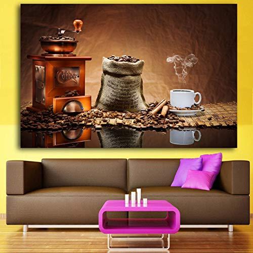 WSWWYModerne ölgemälde Wand küche Bild Dekoration Restaurant Zimmer Bord Klassische Kaffee leinwand Kunst Eine 30x40 cm Kein Rahmen