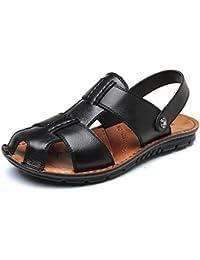 Sandalias Antideslizantes De Cuero Real para Hombres Sandalias Confort Al  Aire Libre Zapatillas Zapatos De Piscina 92bf6fd1cbee