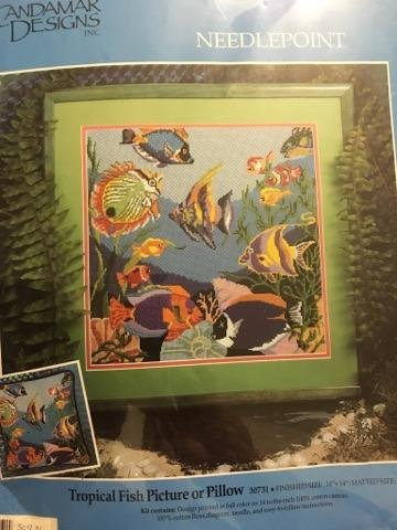 Needlepoint Tropical Fish Picture by Candamar Designs