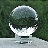 LOTONJT Transparente Kristallkugel,Glaskugel Fotografie Kugel aus Glas,Gut Zum Fotografieren für deko,Fotografie,Hause (80mm)